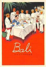 BALI Amsterdam Indisch Restaurant c1940s Artist Jan Lavies Advertising Postcard