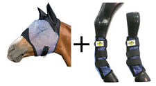 Flymask+Fly Boots to match kit Fly Mask flyVeil w/Ear protector Ballistic FULL
