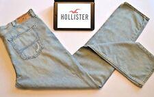 Hollister Mens Jeans Light Blue Skinny Distressed Men's Sz W38 - 34L