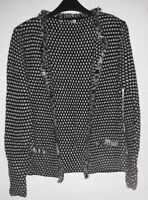 Cocogio Black/White Cardigan Size UK 12 DH182 LL 16