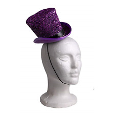 Mardi Gras Theater Costume Pretend Holiday DressUp Glitter Mini Party Hat Purple