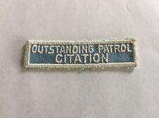 Vintage Cub / Boy Scouts Patch OUTSTANDING PATROL CITATION Badge Uniform BSA