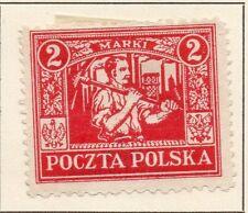 La Polonia 1922/23 precoce questione BELLE Mint Hinged 2M. 042832
