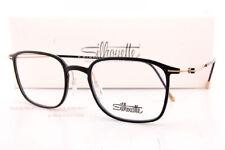 New Silhouette Eyeglass Frames Lite Spirit 2926 9020 Black Shiny/Gold Titanium