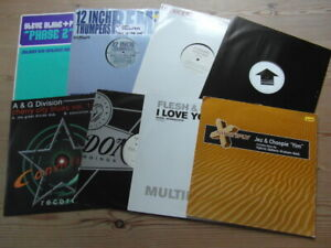 """A COLLECTION OF HOUSE,TRANCE,TEKNO,GARAGE 12"""" SINGLES x 8-2000's VG-EX-9"""