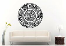 Aztec Ancient Medallion History Warrior Wall Sticker Decal Home Decor Art L1305