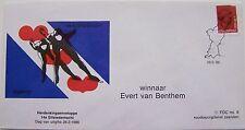 Stadspost Zaandam - Envelop 14e Elfstedentocht 1986 winnaar Evert van Benthem mh