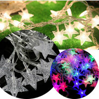 20 LED Fairy String Star Light Wedding Snowflake Lamp Xmas Party Home Decor-WI
