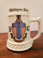 Vintage WASHINGTON STATE UNIVERSITY 1947 Beer Stein / Mug /