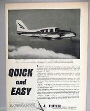 Piper Aztec C Airplane Plane PRINT AD - 1964 ~~ aircraft