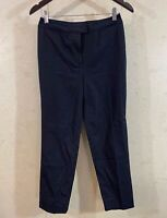 Piazza Sempione Textured Cropped Pants Flat Front Black Women's