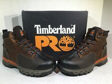 "Timberland Pro Mens Size 9 Wide Downdraft 6"" AT EH WP Brown Work Boots ZB-515"