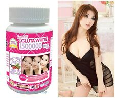 White Gluta Supreme 1500000 Mg V Shape Face Whitening Anti Aging 30 Softgels