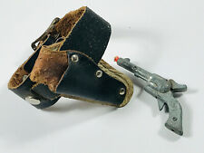 vintage Western Cowboy Roy Rogers Mini Toy Cap Gun w/ Leather Holster