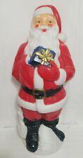 Santa Blowmold Santa Claus Blue Present Outdoor Light Christmas Blow Mold