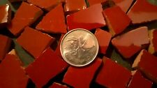 Rust Colored Broken Plate Mosaic Tiles From Italy