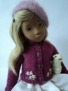 """Wool Jacket, Mohair/Silk Beret and Toy Lamb for Sasha Doll by """"The Spin I'm In."""""""