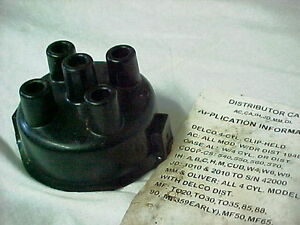 Delco 4 Cylinder Distributor Cap John Deere IH Farmall AC Case MM Oliver