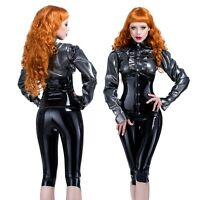 R0670 Latex Buckle Vest Top BLACK or RED SECONDS RRP £80.85 £97.02