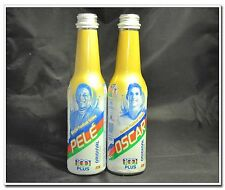 PELE OSCAR Malaysia F&N 100 PLUS Glass Bottle x2 Special Football series