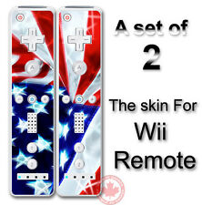 USA Flag Art SKIN COVER STICKER for Nintendo Wii Remote