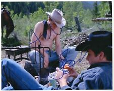 BROKEBACK MOUNTAIN color photo cast signed by HEATH LEDGER and JAKE GYLLENHAAL