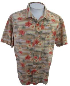 Tranquility Men Hawaiian ALOHA shirt pit to pit 27 XL camp floral luau tropical