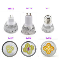Ultra Bright MR16 E27 GU10 CREE LED Spot Lights Lamp Bulb 9W 12W 15W Warm Cool