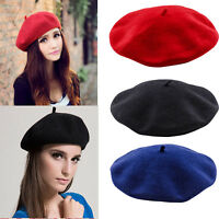 Classic Women Girl Winter Warm Beret Hat French Style Beanie Casual Cap Headwear