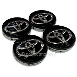 "JDM Toyota SU003-00797 13-16 Scion FRS 86 GT86 ""T"" Wheel Center Caps Genuine OEM"