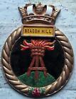 HMCS Beacon Hill : Canada Navy Ship Metal Tampion Plaque Crest