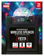TRUST 21731 UR FIESTA DISCO LITE PARTY 20W RECHARGEABLE BLUETOOTH SPEAKER SYSTEM