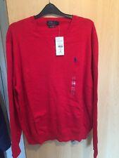 Polo Ralph Lauren V neck Pima Cotton jumper xl BNWT
