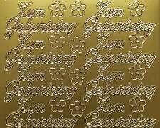 Aufkleber, Zum Geburtstag gold/silber Starform 401