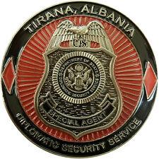 Diplomatic Security Service Challenge Coin RSO Tirana Albania 2
