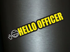 1 x Aufkleber Hello Officer Shocker Black Yellow Sticker Tuning Autoaufkleber