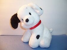 "DISNEY 101  DALMATIONS DOG - RED COLLAR SOFT CHAMOIS PUPPY - 10-11""  PLUSH - EUC"