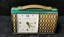 RARE Vintage Phinney-Walker SWISS Music Box Alarm Clock STEEL BRASS !WORKS!
