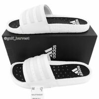 Adidas Men's Cloud White Adilette Boost 3-Stripe Slides Sandals (EG1909) Size 13