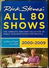 Rick Steves Europe 13 DVD Set All 80 Shows 2000-2009 PBS Travel Documentaries