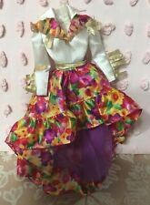 Barbie Doll Clothes - Country Western Floral Print Dress with Fringe Mattel