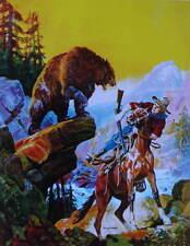 "Hunter ""Surprised"" by Bear  by Gayle Hoskins vintage art"