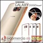 Funda Carcasa Silicona TPU Gel Borde METALIZADO para Samsung Galaxy Grand Prime