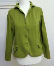 Talbots Women's Casual Lime Green Cotton Sweater Jacket Size Small