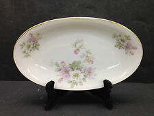 Bavaria Tirschenreuth Apple Blossom Oval Serving Dish Germany Pasco 246 China
