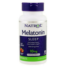 Natrol Sleep Fast Dissolve Melatonin Tablets 10 mg,Strawberry Flavor 60 (2 pack)