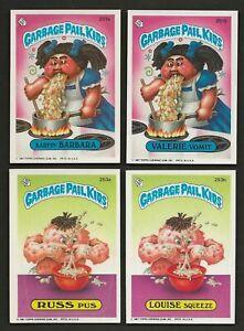 1987 GPK Garbage Pail Kids Series 7 Set of 89 with 5 Variations