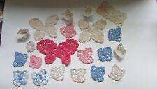 Vintage 1930's Hand-Crocheted Butterflies (3), Baskets (5), & Fleur-de-lis (12)