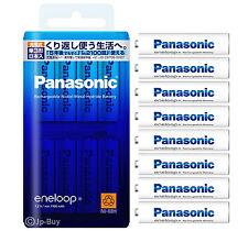 8 Panasonic Eneloop 1900 mAh AA Batteries 2100 Times Rechargeable NiHM Batteries
