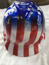 MSA Safety Works American Stars and Stripes V-Gard Protective Hard Hat